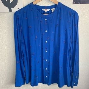Levi's Collarless Blouse